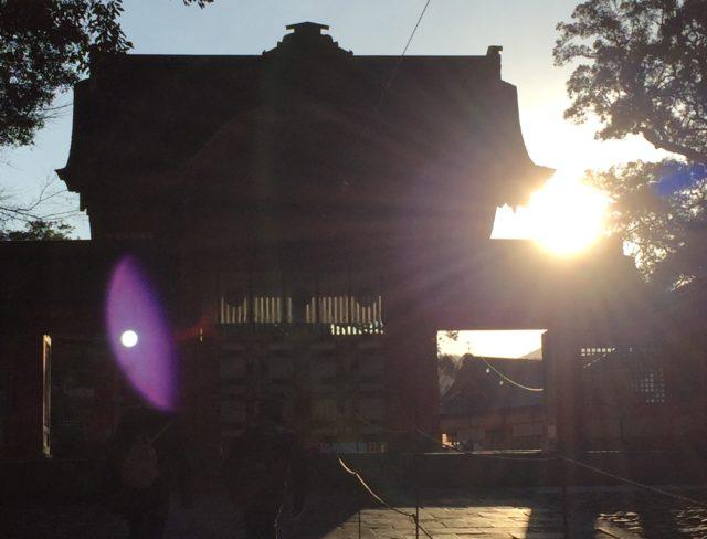 神社 朝日